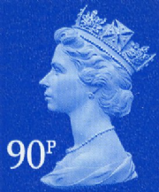 90p Discount GB Postage Stamp
